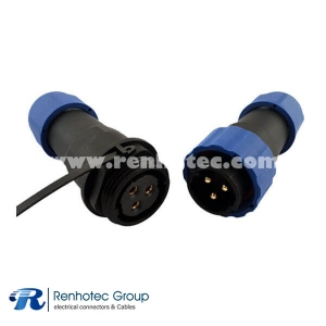 Male Plug&Female Receptacles In-line Cable Connector SP2110Pin Plastic LED Connector