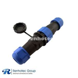 In-line Cable Connector SP21 12pin Waterproof Aviation Connector Straight