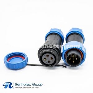 4pin Waterproof Connector SP21 Male Plug&Female Receptacles waterproof dustproof for Cable
