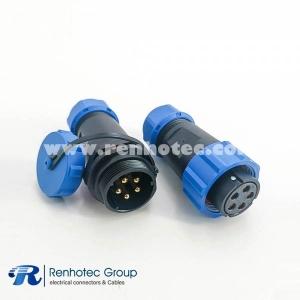 SP21 Connector IP68 Waterproof Connetor  SP21-5pin In-line Female Plug & Male Socket