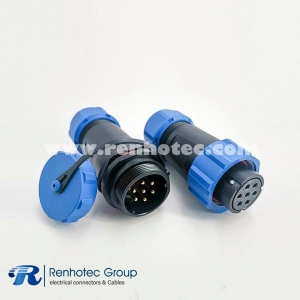 SP21 Female Connector IP68 7pin In-line Female Plug & Male Socket SP21-7pins Connector