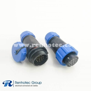 Plug SP21 Connector IP68 In-line Female Plug & Male Socket SP21-12pins Connector