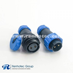 IP68 Connector SP21 Series 2pin Male Plug & Female Socket In-Line Type SP21-2pins Connector