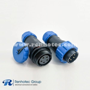 Weipu IP68 Series Circular Male Plug & Female Socket In-Line Type SP21-5 Pins Connector