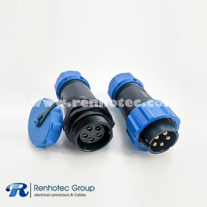 Aviation SP21 Series 5 Pin Male Plug & Female Socket Connector In-Line Type SP21-5 Pins Connector