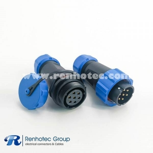 7pin Connector SP21 Series Circular Male Plug & Female Socket Connector In-Line Type SP21-7pins Connector
