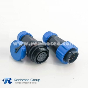 SP21 Series Male Plug & Female Socket In-Line Type straight SP21-12pins Connector