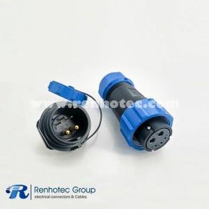 weipu 5 pin SP21 Series IP68 Female Plug & Male Socket Rear-nut Mount Straight SP21-5 Pins