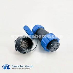 SP21 Series IP68 Female Plug & Male Socket Rear-nut Mount Straight SP21-12pins
