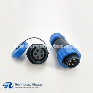 Waterproof 7pin SP21 Male Plug & Female scoket Rear-nut Mount Straight