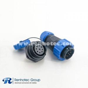 IP68 Connector SP21 9 Pin Male Plug & Female scoket Rear-nut Mount Straight Waterproof