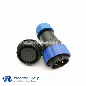 SP29 Series 3pin Straight Male Plug&Female Receptacles Rear-nut Mount