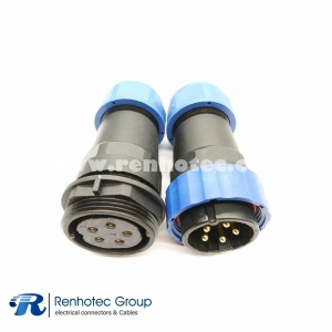 SP29 5pin Straight Male Plug&Female Receptacles In-Line Type for Cable