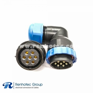 7pin Connector Aviation Connector SP29 Angled Male Plug&Female Receptacles Rear-nut Mount