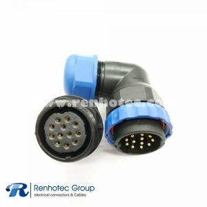 12pin Connector SP29 Aviation Connector Male Plug Angled&Female Socket Rear-nut Mount