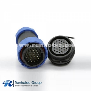 Weipu SP29 26Pin Aviation Connector Straight Male Plug&Female Receptacles 4 Hole Flange