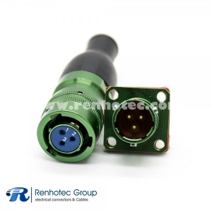 Electrical Circular Connectors Y50X Female Plug&Male Socket 3 Pin Straight Bayonet Coupling Cable Solder Cup