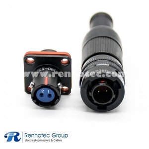 2 Pin Circular Connector Straight Bayonet Coupling 08 Shell Size Cable Solder Male Plug &Female Socket Y50X Connector