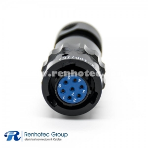 Aviation Connector Plug Spring 10 Shell Size 7 Pin Female Plug Straight Bayonet Coupling Solder Y50X Connector