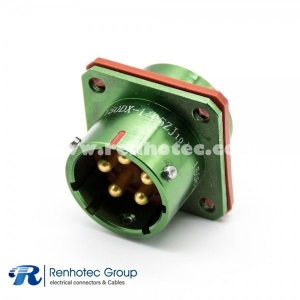 5 Pin Male Socket Y50DX Bayonet Coupling 14 Shell Size  180° panel mount Connector Aluminum alloy Solder cup