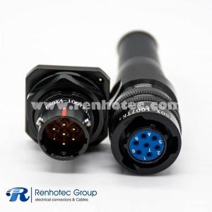 7Pin Bayonet Coupling Solder Panel Mount/PCB Female Plug&Male Socket 10 Shell Y50X