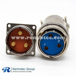 XCD Circular Electrical Connector 3Pin Bayonet Coupling Female Plug&Male Socket Solder Cup Straight