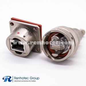 YW Electric Connector Male Plug &Female Socket Rj-45 Built-in Interface Type Straight Electroless Nickel Plating