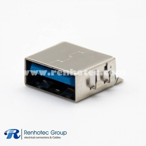 USB Connector 3.0 Offset Type A 9 Pin Female Straight