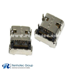 USB Connector 3.1 MID-mount Receptacle Hybrid for PCB