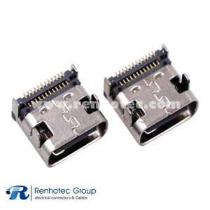 USB 3 Type C Connector SMT Type C USB Double Stack Connector
