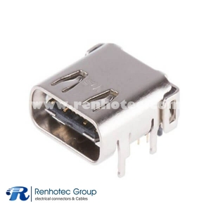 R/A SMT TYPE C Connector Hydrid Top Mount Shell Dip Terminal Short Type