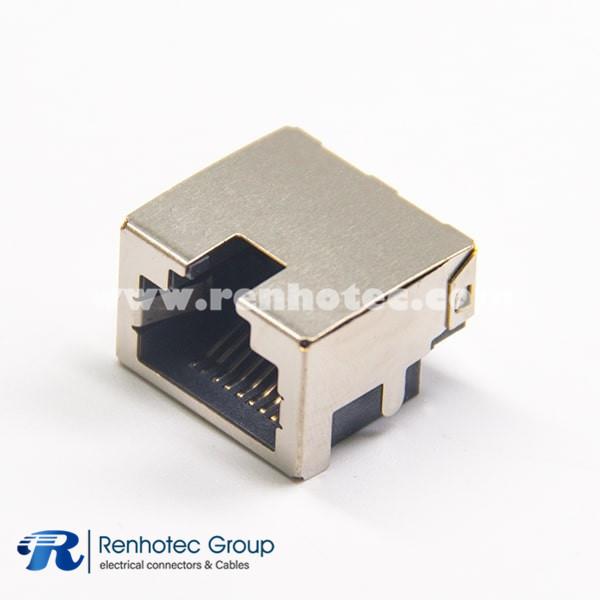 RJ45 Ethernet Network Port Shielded SMT Type Through Hole for PCB Mount