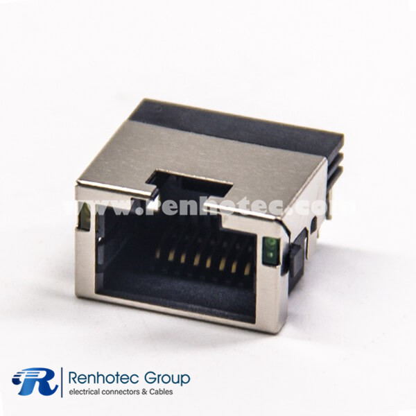 RJ45 Modular Connectors With LED  PCB Mount Shieled