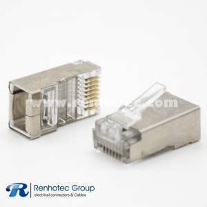 Network Module Cat6 Plugs RJ45 8P8C Straight Shielded For Cat5e Cat6 Cat6a Cat7 Cat8