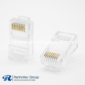RJ45 Crystal Plug Cable Male Straight Unshielded 8 Pin Plug For CAT5 Cat5E Cat6 Cat7 Cat8