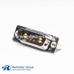 7w2 Combo D sub Connector Female Staking Type Through Hole for PCB Mount