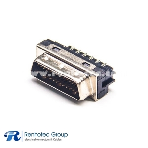 SCSI Connector 26 PIN HPDB Male Straight Solder Type for Cable