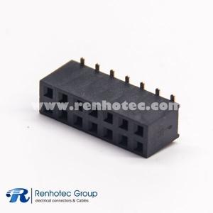 Female Header Pin Connector Dual Row SMT 2.54 Center Spacing 14 Way DIP