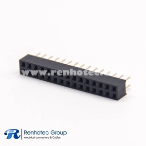 30 Pin Header Straight Female DIP Type Dual Row PCB Mount 2.54 Center Spacing