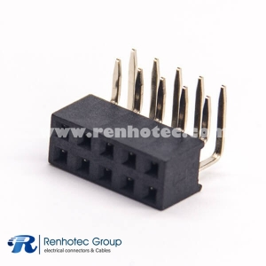 Header 10 Pin Dual Row 1X10 Pin 90 Degree DIP Type  for PCB Mount
