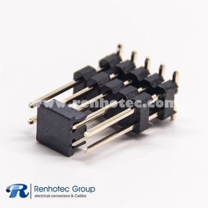 Double Row Male Pin Header Double Plastic 10 Pin SMT Type 180 Degree  for PCB Mount