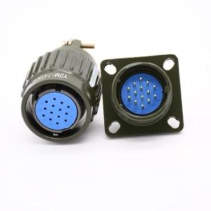 14Pin Y2M Female Plug &Male Socket Y21M Circular Connector Hole Dia 21mm For Electrical