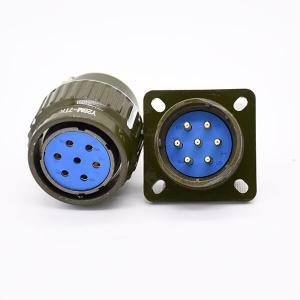 Y28M-7ZJ Military Gold Plated 7 Pins Female Plug &Male Socket Circular Connector