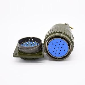 Y2M-16TK Diameter 36mm 16 Pin Aviation Female Plug &Male Socket With Solder 4 holes Flange
