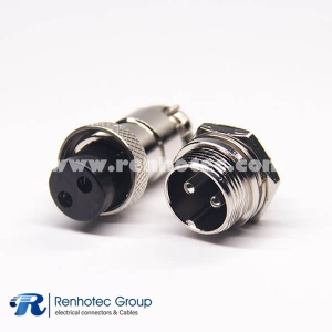 2 Pin Aviation Connector GX16 Male Female 180 Degree for Cable