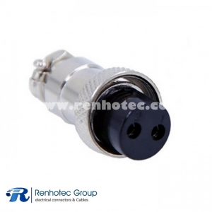 GX16 2 Pin Connector Straight Standard Type Female Plug Solder Type For Cable