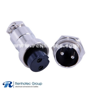 Aviation Connector GX20 2 Pin Straight Male Socket and Female Plug mount