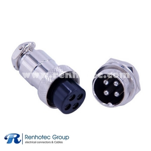 GX20 4 Pin Aviation Connector IP55 Waterproof Straight GX20 Male Female