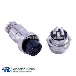 Conector GX20 5 Waterproof Electrical Connectors Straight Male Socket and Female Plug GX20