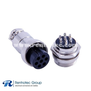 Aviation Cable Connector GX20 Uxcell 7 Pin Round Female Plug Male Socket Straight
